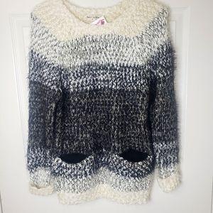 Bear Dance Eyelash Knit Sweater pockets medium